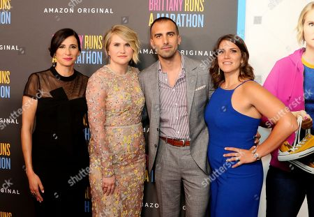 "Michaela Watkins, Jillian Bell, Paul Downs Colaizzo, Brittany O'Neill. Michaela Watkins, from left, Jillian Bell, Paul Downs Colaizzo and Brittany O'Neill attend the LA Premiere of ""Brittany Runs a Marathon"" at the Regal LA Live & 4DX, in Los Angeles"
