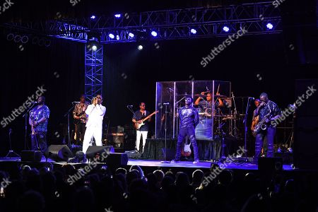 Editorial picture of Michael Ray and Robert Bell of Kool & the Gang in concert at The Coconut Creek Casino, USA - 15 Aug 2019
