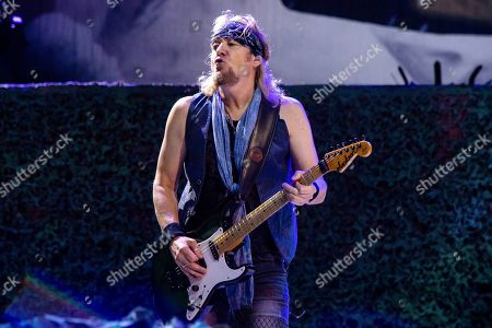 Adrian Smith of Iron Maiden performs at the Riverbend Music Center, in Cincinatti, OH
