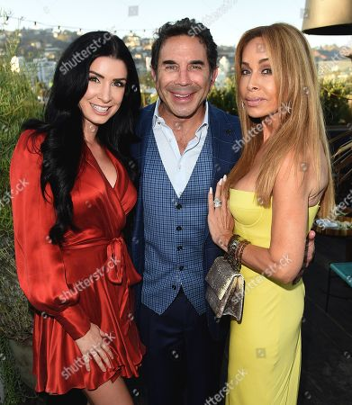 Brittany Pattakos, Faye Resnick, and Dr. Paul Nassif attend the new skincare system launch, as|if by Nassif, held at EP+LP in West Hollywood, CA #PrettyFilter #FreshStart #GetWoke #AreWeClear? #YouFeelMe?