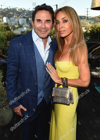 Faye Resnick and Dr. Paul Nassif attend the new skincare system launch, as|if by Nassif, held at EP+LP in West Hollywood, CA #PrettyFilter #FreshStart #GetWoke #AreWeClear? #YouFeelMe?