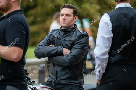 Editorial picture of 'Granchester' TV show on set filming, Cambridge, Cambridgeshire, UK - 14 Aug 2019