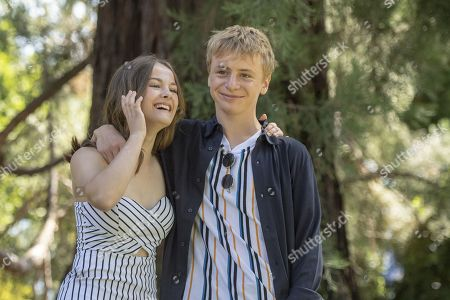 Stock Picture of Fantine Harduin (L) from Belgium and actor Thomas Gioria (R) from France pose during the photocall for the film 'Adoration' at the 72th Locarno International Film Festival in Locarno, Switzerland, 16 August 2019. The Festival del film Locarno runs from 07 to 17 August 2019.