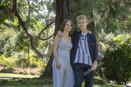 Fantine Harduin (L) from Belgium and actor Thomas Gioria (R) from France pose during the photocall for the film 'Adoration' at the 72th Locarno International Film Festival in Locarno, Switzerland, 16 August 2019. The Festival del film Locarno runs from 07 to 17 August 2019.