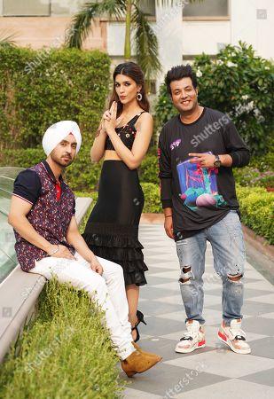 Diljit Dosanjh, Kriti Sanon and Varun Sharma