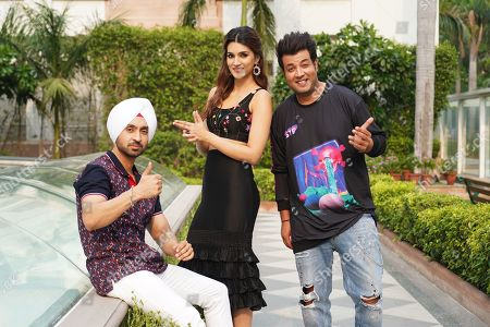 Diljit Dosanjh, Kriti Sanon and Varun Sharma