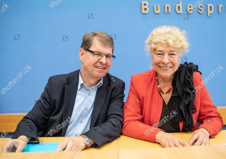 Editorial picture of Schwan and Stegner present their joint candidacy for the SPD leadership, Berlin, Germany - 16 Aug 2019