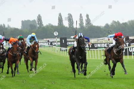 GIN PALACE (right) ridden by Charles Bishop beating Canal Rocks in The Christopher Smith Associates Handicap Stakes at Newbury Copyright: Ian Headington/racingfotos.com