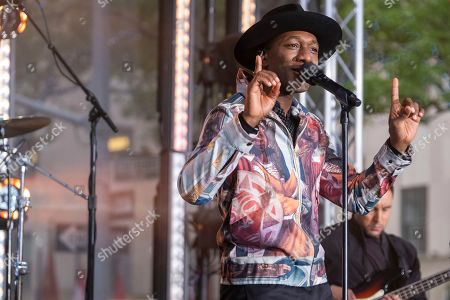Editorial photo of Aloe Blacc Performs on NBC's Today Show, New York, USA - 16 Aug 2019