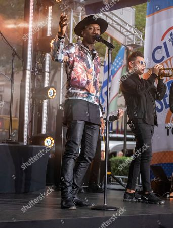 Editorial image of Aloe Blacc Performs on NBC's Today Show, New York, USA - 16 Aug 2019