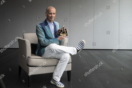 John Waters poses with the Pardo d'onore Manor award at the 72th Locarno International Film Festival in Locarno, Switzerland, 15 August 2019 (issued 16 August 2019). The Festival del film Locarno runs from 07 to 17 August 2019.