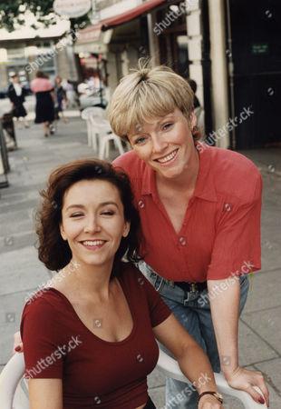 Actresses Suzy Aitchison And Georgia Mitchell.