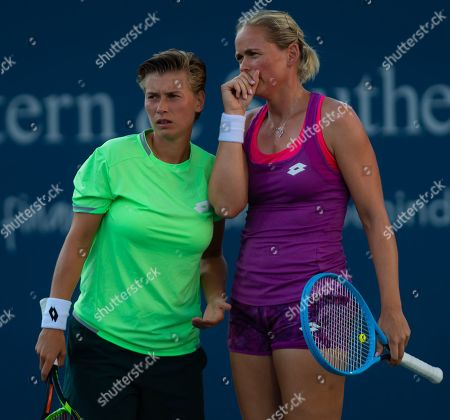 Demi Schuurs of the Netherlands & Anna-Lena Groenefeld of Germany
