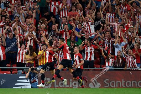 Aritz Aduriz of Athletic celebrates after scoring his sides first goal