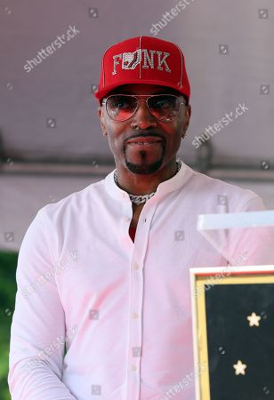 US Artist/music producer Teddy Riley looks on during his star ceremony for the 2,670th star on the Hollywood Walk of Fame in Hollywood, California, USA, 16 August 2019. The star was dedicated in the Category of Recording.