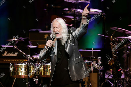 Edgar Winter plays as part of a concert celebrating the 50th anniversary of Woodstock in Bethel, N.Y., . Bethel Woods Center for the Arts is hosting a series of events Thursday through Sunday at the bucolic 1969 concert site, 80 miles (130 kilometers) northwest of New York City