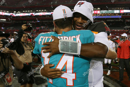 Editorial photo of NFL Dolphins vs Buccaneers, Tampa, USA - 16 Aug 2019