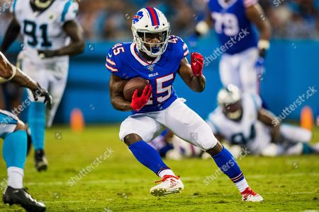 Buffalo Bills running back Christian Wade (45) during the preseason NFL football game between the Buffalo Bills and the Carolina Panthers on in Charlotte, NC
