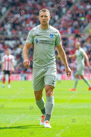 Tom Naylor (#4) of Portsmouth FC during the EFL Sky Bet League 1 match between Sunderland and Portsmouth at the Stadium Of Light, Sunderland