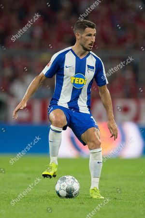Mathew Leckie #11 (Hertha BSC Berlin), FC Bayern Muenchen vs. Hertha BSC Berlin, Football, 1.Bundesliga, 16.08.2019, DFB regulations prohibit any use of photographs as image sequences and/or quasi-video