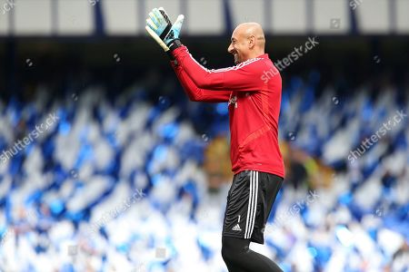 Watford goalkeeper Heurelho Gomes (1)  during the Premier League match between Everton and Watford at Goodison Park, Liverpool