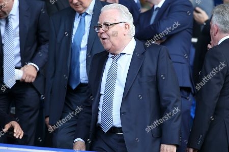 Stock Photo of Everton Chairman Bill Kenwright during the Premier League match between Everton and Watford at Goodison Park, Liverpool