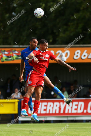 Courtney Baker-Richardsson of Accrington Stanley and Terrell Thomas of AFC Wimbledon during AFC Wimbledon vs Accrington Stanley, Sky Bet EFL League 1 Football at the Cherry Red Records Stadium on 17th August 2019