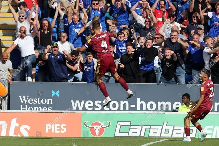 Luke Chambers of Ipswich Town celebrates scoring the second Ipswich Town goal during Peterborough United vs Ipswich Town, Sky Bet EFL League 1 Football at London Road on 17th August 2019