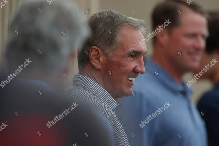 R m. Retired NFL head coach Mike Shanahan during a combined NFL football training camp at the Broncos' headquarters, in Englewood, Colo