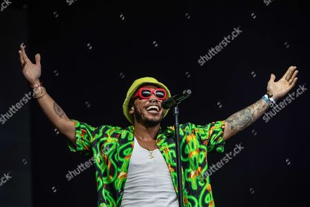 US rapper Anderson .Paak performs on the second day of the 27th edition of music festival A Campingflight to Lowlands Paradise in Biddinghuizen, the Netherlands, 17 August 2019.