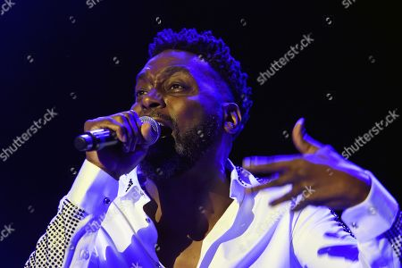 Stock Image of Big Daddy Kane aka Antonio M. Hardy performs on the main stage, during the 20th edition of Royal Arena Festival in Biel, Switzerland, 17 August 2019.
