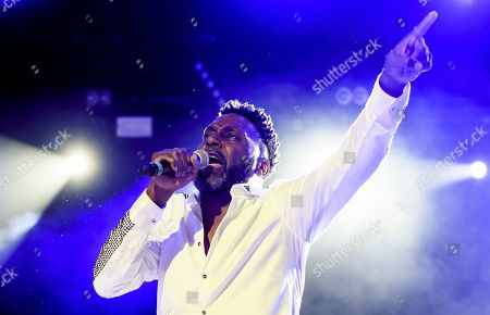 Big Daddy Kane aka Antonio M. Hardy performs on the main stage, during the 20th edition of Royal Arena Festival in Biel, Switzerland, 17 August 2019.