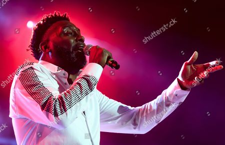 Stock Picture of Big Daddy Kane aka Antonio M. Hardy performs on the main stage, during the 20th edition of Royal Arena Festival in Biel, Switzerland, 17 August 2019.