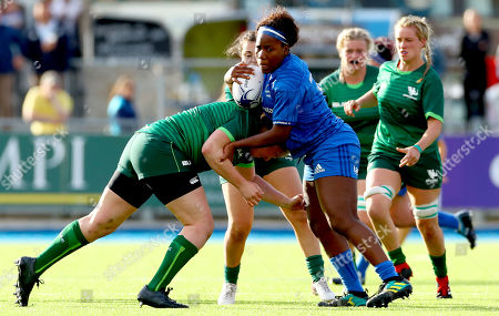 Stock Picture of Leinster vs Connacht. Connacht's Denise Redmond and Linda Djougang of Leinster