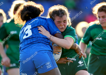 Leinster vs Connacht. Leinster's Linda Djougang and Moya Griffin of Connacht