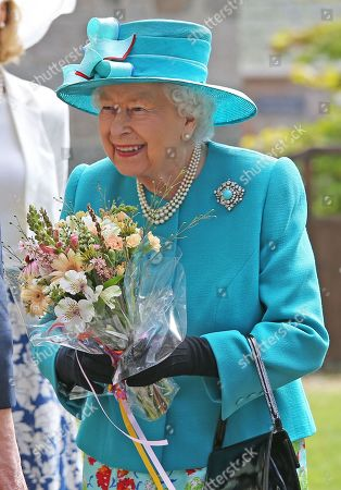 Queen Elizabeth visits Braemar and Crathie Parish Church, Aberdeenshire
