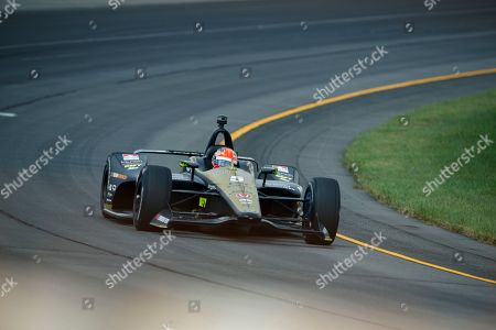 James Hinchcliffe drives during a practice session for Sunday's IndyCar Series auto race at Pocono Raceway, in Long Pond, Pa