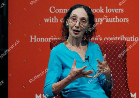 Stock Photo of Author Joyce Carol Oates speaks about her process for constructing a story, at the Mississippi Book Festival in Jackson, Miss. Oates was one of several dozen authors who participated in a variety of panels or sitdown interviews for festival attendees