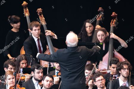 Editorial image of 20th anniversary of the West-Eastern Divan Orchestra, Berlin, Germany - 17 Aug 2019