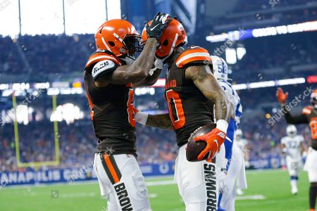 Editorial image of Browns Colts Football, Indianapolis, USA - 17 Aug 2019