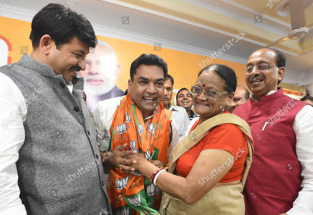 Editorial photo of Former AAP Minister Kapil Mishra Joins BJP, New Delhi, India - 17 Aug 2019