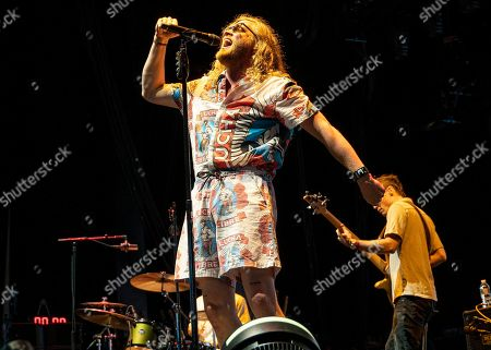 Stock Picture of Seattle based singer/songwriter Allen Stone opens for Train and The Goo Goo Dolls during the concert at the Xfinity Center, in Mansfield, Mass