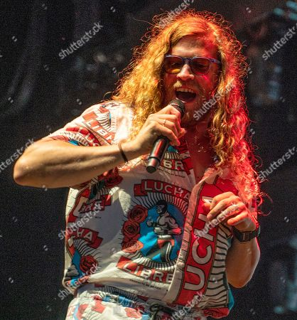 Stock Image of Seattle based singer/songwriter Allen Stone opens for Train and The Goo Goo Dolls during the concert at the Xfinity Center, in Mansfield, Mass