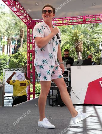 Editorial image of Jesse McCartney in concert at the Go Pool & Dayclub, Flamingo Hotel & Casino, Las Vegas, USA - 17 Aug 2019