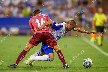 Shinji Kagawa of Real Zaragoza and Aitor Sanz of CD Tenerife