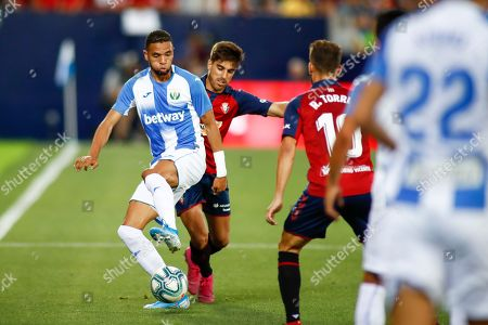 Youssef En-Nesyri of Leganes and Nacho Vidal of Osasuna