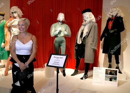 "Jennifer Rogien is pictured with her Emmy-nominated Costume Design work for ""Russian Doll"" during the premiere of the 13th Annual Art of Television Costume Design at FIDM Museum & Galleries on in Los Angeles"