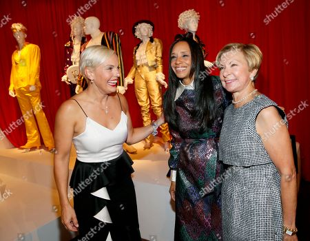 "Jennifer Rogien, Michelle R. Cole, Barbara Bundy. Russian Doll"" costume designer Jennifer Rogien, from left, ""Black-ish"" costume designer Michelle R. Cole and FIDM VP of Education and Museum Director, Barbara Bundy, attend the premiere of the 13th Annual Art of Television Costume Design at FIDM Museum & Galleries on in Los Angeles"