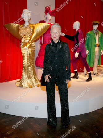 "Lou Eyrich is pictured with her Emmy-nominated Costume Design work for ""Pose"" during the premiere of the 13th Annual Art of Television Costume Design at FIDM Museum & Galleries on in Los Angeles"
