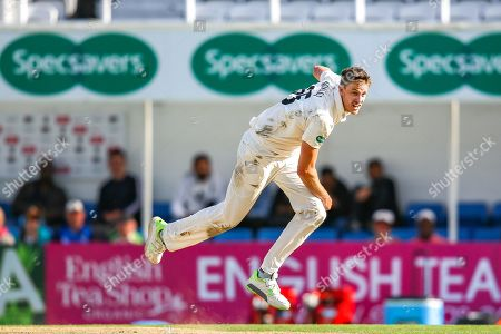 Morne Morkel of Surrey bowling during the Specsavers County Champ Div 1 match between Surrey County Cricket Club and Hampshire County Cricket Club at the Kia Oval, Kennington